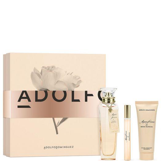 Adolfo Dominguez Estuche Agua Rosas Blancas Spray 120 Ml+ Body 75 ml + Edt Spray 10 Ml