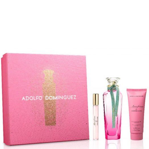Adolfo Dominguez Agua Fresca Gardenia Musk Edt Spray 120 ml + Body + Vial