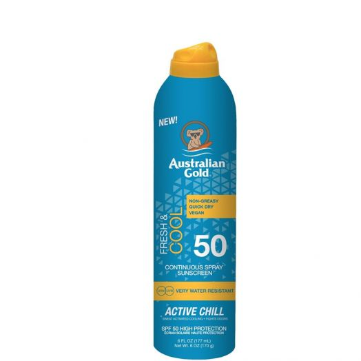 Australian Gold Fresh & Cool Active Chill Spray continuo SPF50 177 ml