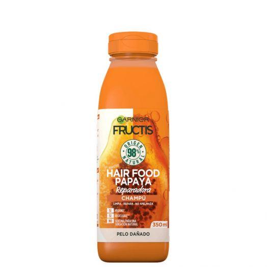 Garnier Fructis Hair Food Champú con Papaya Reparadora 350 ml
