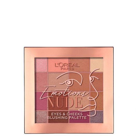 L'Oréal Makeup Emotions Nude Paleta de Sombras y Coloretes
