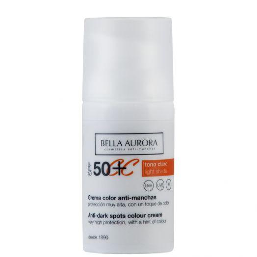 Bella Aurora Crema Color Anti-Manchas Tono Claro Spf 50+ 30 Ml