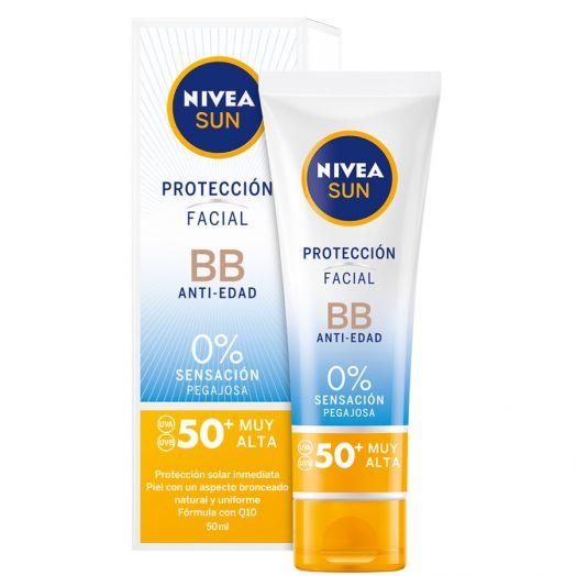 Nivea Sun Protección Facial Bb Antiedad Spf50 Tubo 50 Ml