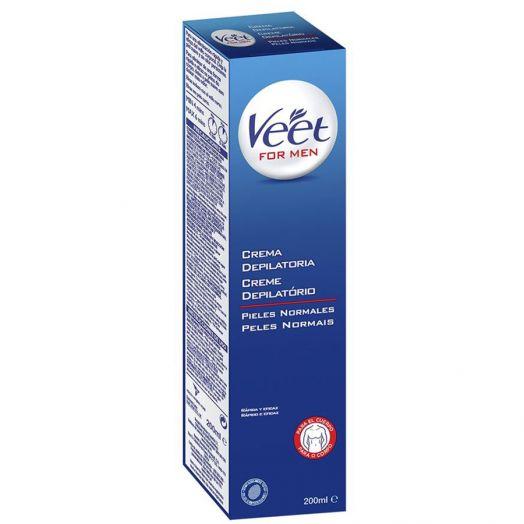 Veet Veet For Men Crema Depilatoria Pieles Normales 200 Ml