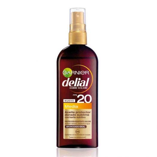 Delial Aceite Bronceador Protector Dorado Sublime F-20 150 Ml