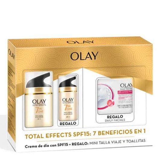 Olay Total Effects Pack Dia Pack de limpieza y tratamiento día Estuche