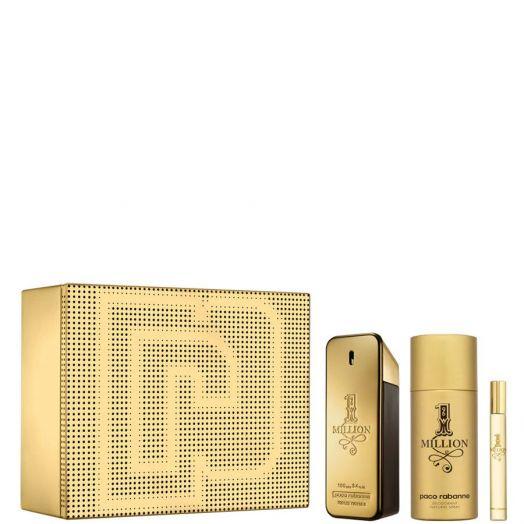 Paco Rabanne 1 Million Edt Spray 100 ml + Desodorante + 10 ml Estuche