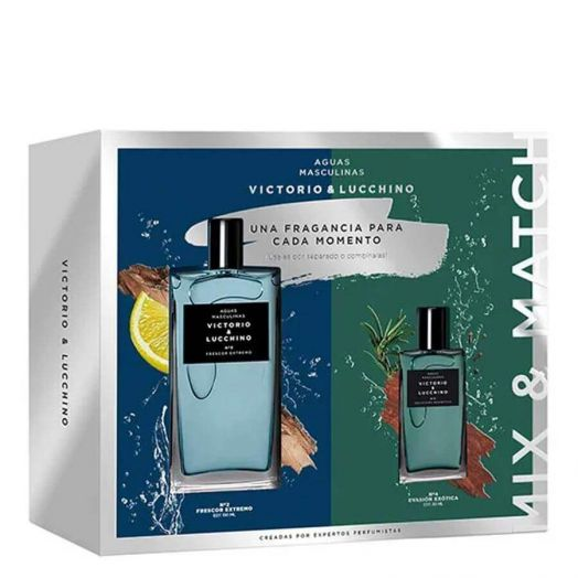 Victorio&Lucchino Aguas Masculinas De V&L Nº2 Frescor Extremo Eau de toilette Spray 150ML + Spray 30 ml Estuche