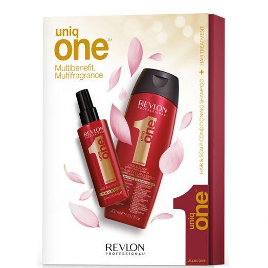 Revlon Set Uniq One Champú 300 Ml + Uniq One 150 Ml Estuche