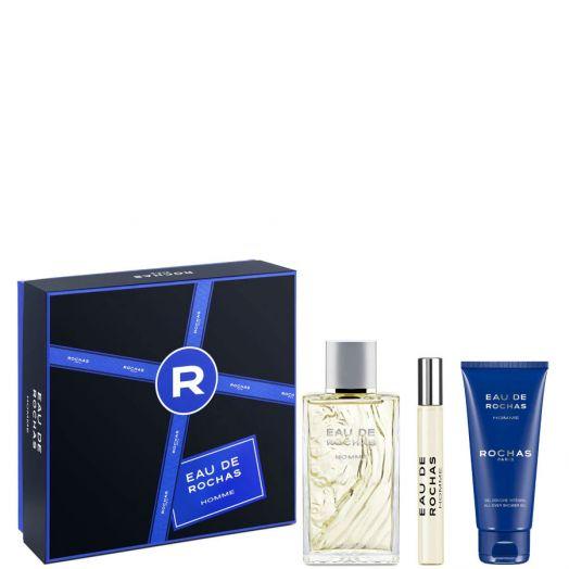 Rochas Eau De Rochas Homme Eau De Toilette Spray 100 ml + Gel + Vial