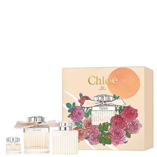 Chloé Set Eau De Parfum Spray 75Ml + Leche Corporal + Minitalla