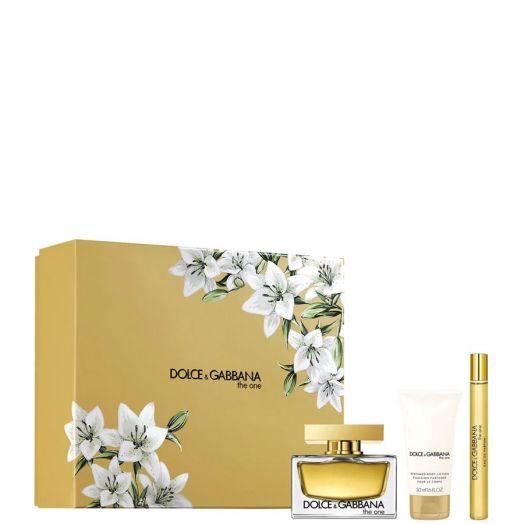 Dolce&Gabbana The One Eau De Parfum Spray 75 Ml + Minitalla + Loción Corporal