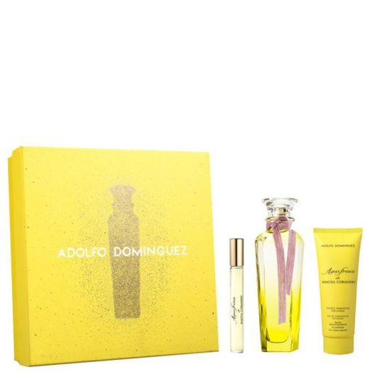 Adolfo Dominguez Agua Fresca Mimosa Coriandro EDT Spray 120ml + Body + Via