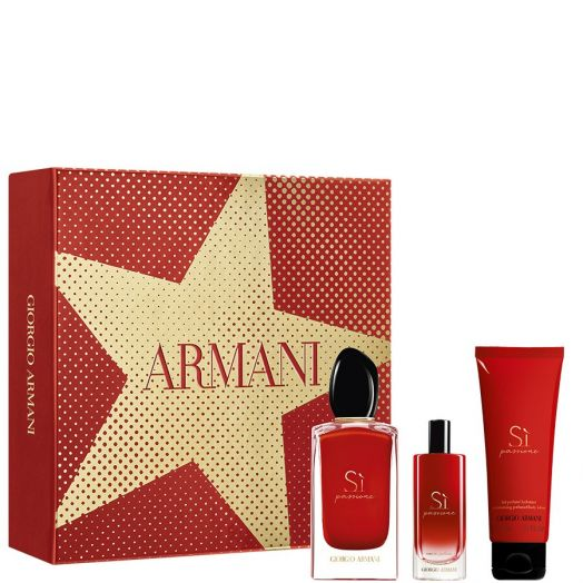 Armani Sì Passione Eau De Parfum Spray 100 Ml + Minitalla + Body Estuche
