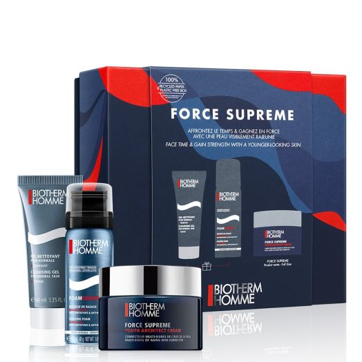 Biotherm Homme Force Supreme Youth Architect Crema + Espuma + Gel Estuche