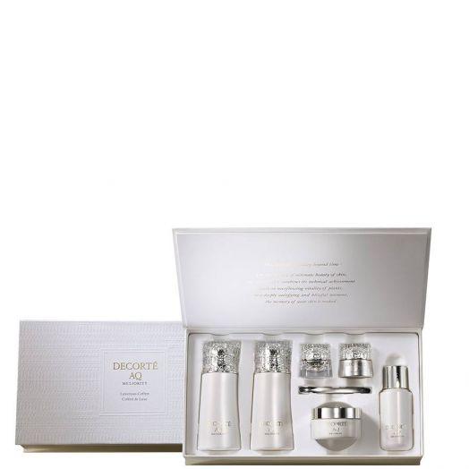 Decorté Aq Meliority Luxurious Coffret Colección de edición limitada con toda la línea DECORTÉ AQ MELIORITY