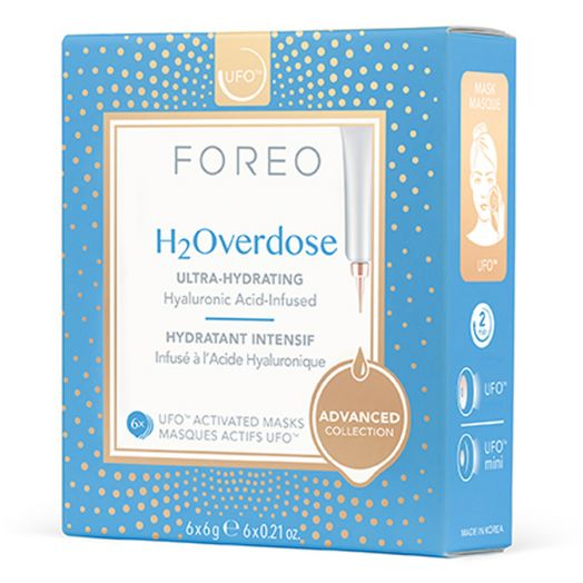 Foreo H2Overdose Mascarilla Facial Ultra Hidratante Para Piel Seca 6 U