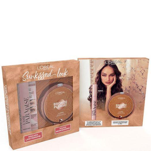 L'Oréal Makeup Máscara Lash Paradise + Bronze Please! Set Estuche