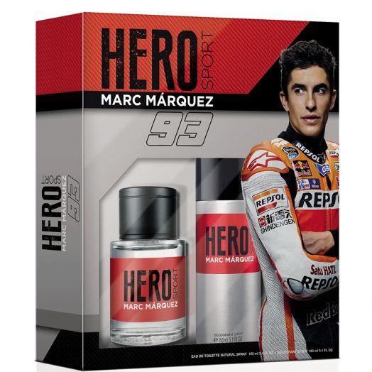 Marc Márquez Hero Sport Eau De Toilette Spray 100 Ml + Desodorante Estuche