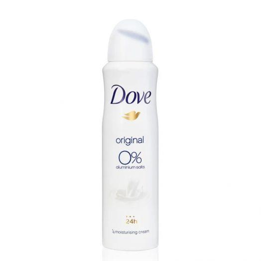 Dove Original 0% Desodorante En Spray Sin Alcohol Ni Aluminio 24H 150 Ml
