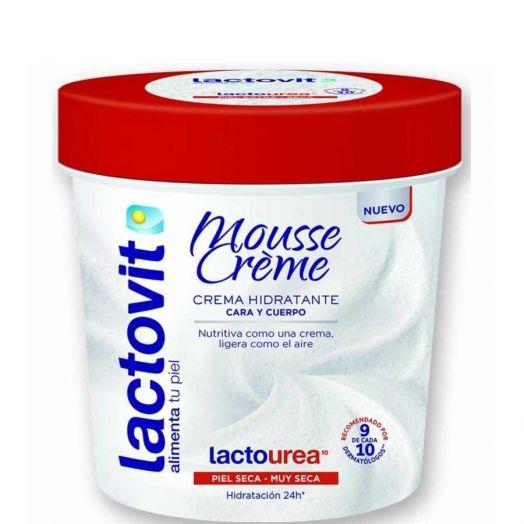 Lactovit Crema Mousse Lactourea Crema Hidratante Cara Y Cuerpo 250 Ml