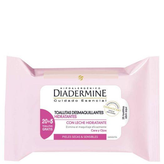 Diadermine Cuidado Esencial Toallitas Desmaquillantes Hidratantes 25 U