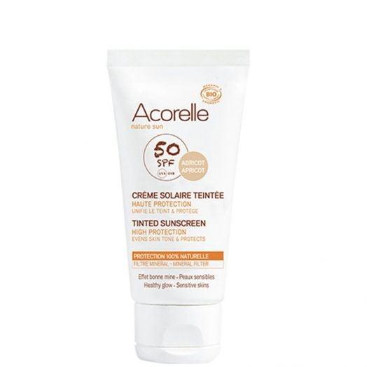 Acorelle Crema Solar Facial Spf50Color Apricot 75 Ml