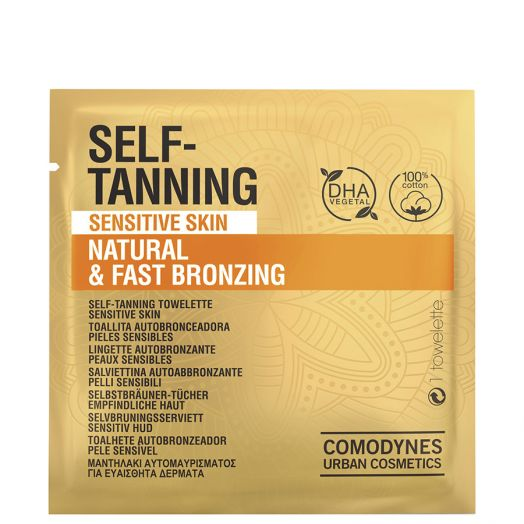 Comodynes Self-Tanning Sensitive Skin Natural & Fast Bronzing 8 U