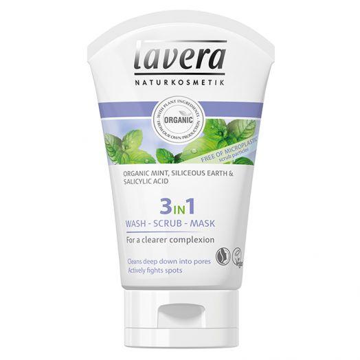 Lavera Gel Limpiador 3 En 1 Gel, Peeling Y Mascarilla 125Ml