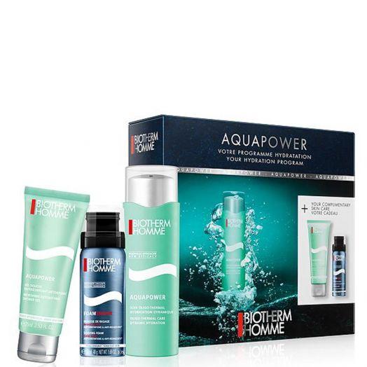 Biotherm Aquapower Crema Hidratante 75 Ml + Crema De Afeitar + Gel De Ducha