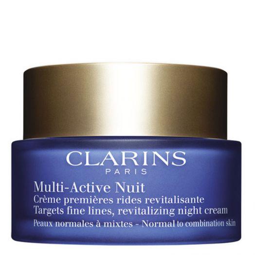 Clarins Multi-Active Noche Crema Ligera Para Pieles Normal Mixta 50 Ml