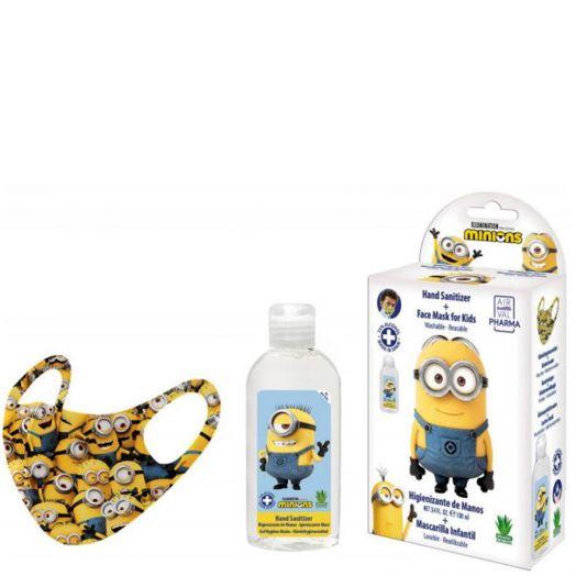 Minions Pack Higienizante Minions Higienizante 100 ml + Mascarilla