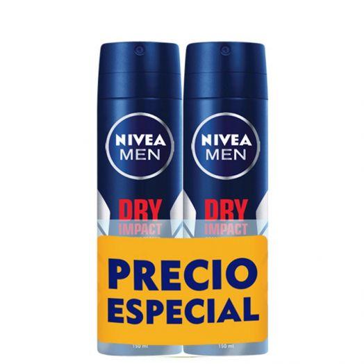 Nivea Men Dry Impact Desodorante Pack x2 400 ml