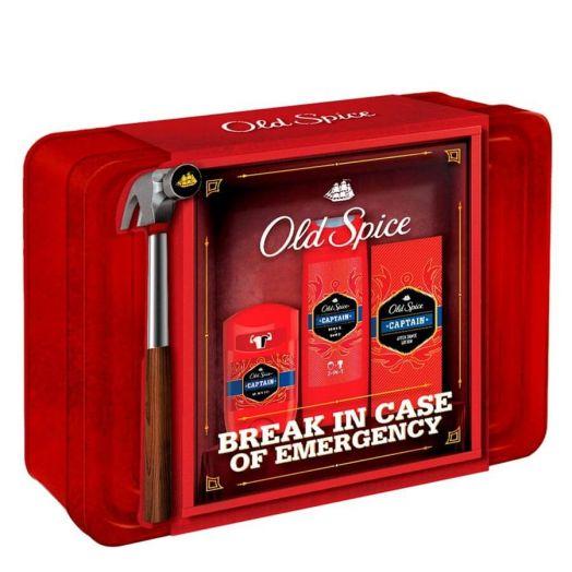 Old Spice Estuche Captain Old Spice Desodorante En Barra 50 Ml + Locion + Gel De Ducha Estuche