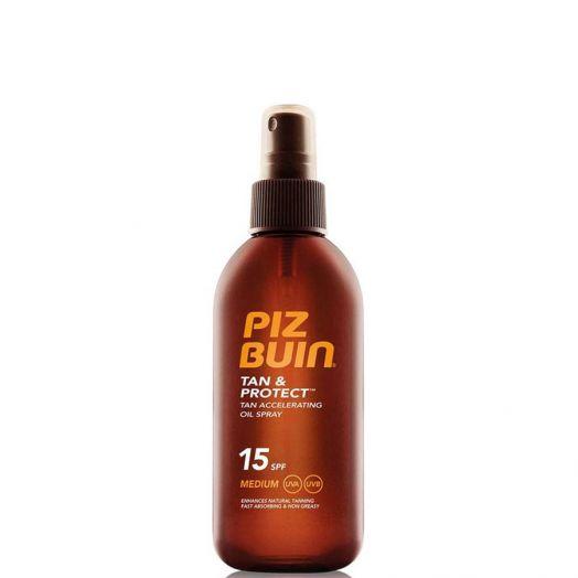 Piz Buin Tan & Protect Aceite Acelerador Del bronceado SPF15 Spray 150 ml