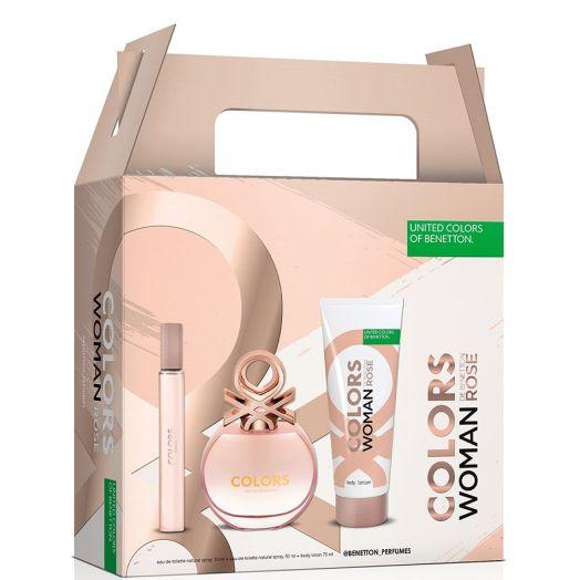 United Colors Of Benetton Colors Rosé Toilette Spray 50 ml + Body + Vial