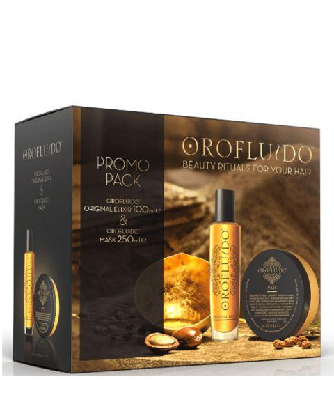 Revlon Set Orofluido Elixir 100 Ml + Mask 250 Ml Estuche